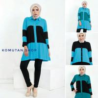Soraya Tunik Tunic / Long Blouse / Atasan Kemeja Casual / Hijab Ootd