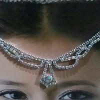 hiasan kepala hiasan jilbab mutiara mahkota