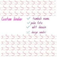 CUSTOM BINDER+nama/edit 20ring A5