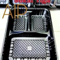 Tray Mika Bento sekat tiga 3 Box makanan Kotak lunch makanan