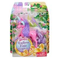 Boneka Barbie Mattel Endless Hair Kingdom Pet Mini Unicorn