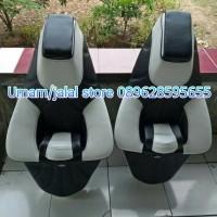 modifikasi jok motor nmax model cobra warna hitam putih terbaru