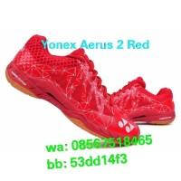 Sepatu Badminton Yonex Aerus 2 Men Red ! 100% Original Yonex Sunrise !