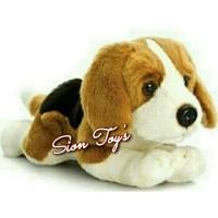 Boneka Hewan Anjing Beagle Lucu