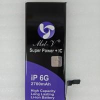 Baterai Batre Double Power + IC Iphone 6G/ Iphone6 Battery Original