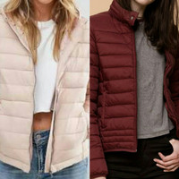 Pull and Bear Woman Winter Jacket Size S,M & L with Hood (Tudung)