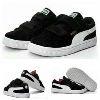 Sepatu Anak Puma Suede Hitam Putih Kids Unisex Laki Laki Perempuan