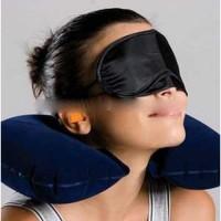 Bantal Leher Inflatable dengan Masker Mata & Earplug Diskon