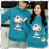 Baju Couple Lengan Panjang  Couple Sweater Hoodie Doraemon Yummy