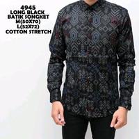 Jual baju kemeja pria   kemeja batik songket black Murah