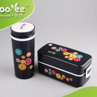 Lunch Box set Tempat Kotak Makan BPA Free Yooyee 596 Dengan Tas
