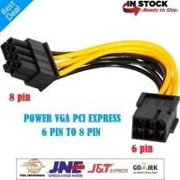 Kabel Power VGA Adapter 6 pin to 8 pin - 6pin 8pin PCIE PCI-E express