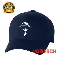 Topi Baseball Navy LUFFY ONE PIECE keren Yomerch