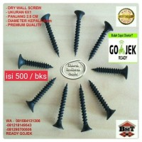 Skrup 6x1 Drywall Screw Gypsum Plafon Hollow Genteng Metal ISI 500 pcs
