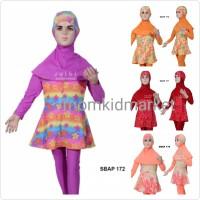 Baju Renang Anak Muslim Muslimah Ukuran 1, 2 dan 3 Tahun Sulbi SBAP