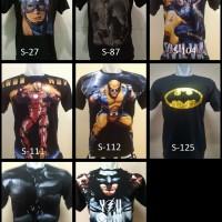 Jual Kaos distro murah keren 3D Full Print Superhero berkualitas Murah