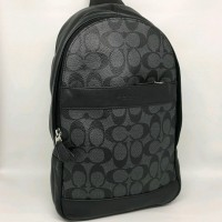 Tas Selempang Cowok Coach Original Men Sling Pack Bag Polgan Black