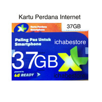 Kartu Perdana XL 37gb internet 24jam kuota data