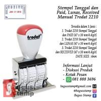 Stempel Tanggal dan Paid, Lunas, Received Manual Trodat 2210