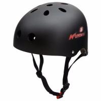EXCLUSIVE KUYOU Helm Sepeda Anak Size M Black