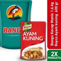 BANGO KECAP MANIS 1.6KG + ROYCO BUMBU DASAR AYAM KUNING 600G