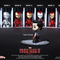 Hot Toys Cosbaby Iron Man 3 Mark 1-7 Ori MISB
