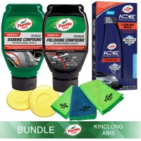 Turtle Wax [BUNDLE] PRM RUBBING + POLISHING COMPOUND + ICE LIQUID WAX