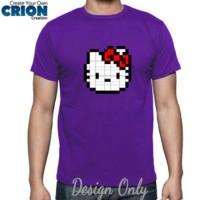 Kaos Unisex Hello Kitty - Pixel Art