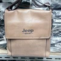 Tas Kulit Selempang Pria Casual Merk Jeep Import Quality Warna Coklat
