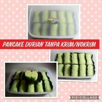 Pancake durian no cream full daging durian