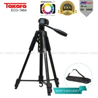 TAKARA ECO-196A Lightweight Tripod With Pouch/Tas/Bag