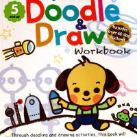 Kumon My Awesome Doodle & Draw Work Book Includes Over 60 dog stickers
