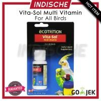 Vitasol Multi Vitamin untuk Semua Jenis Burung Parrot Kicau Macaw 29ml