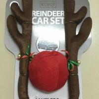 Aksesoris Mobil - Car Reindeer Antlers & Nose