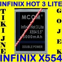 Baterai Infinix Hot 3 Lite X554 MCOM M COM Batrai Batre Battery Batere