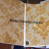 Wallpaper Dinding Luxury Klasik Coklat Gold