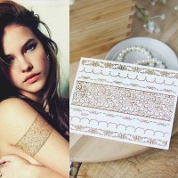 Gold Flash Tattoo Model 3 Stiker Tatto Motif Tempel Fashion Impor Now