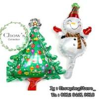 Set Balon Foil Pohon Natal dan Snow Man Mini / Set Foil Christmas Tree