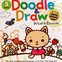 Kumon My Amazing Doodle & Draw Work Book Includes Over 60 cat stickers