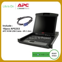 """APC AP5816 17"""" Rack LCD Console with Integrated 16 Port"""