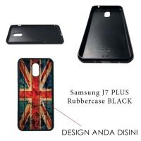 Samsung Galaxy J+ / J7 Plus Rubbercase Black - Custom Case