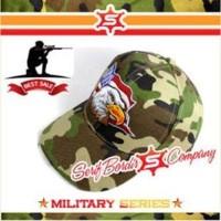 Topi Baseball Custom American Eagle Loreng Tentara