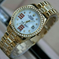 Jam Tangan Wanita Rolex Balok Full Diamond Date