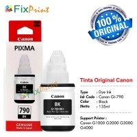 Tinta Printer Canon GI-790 G1000 G20000 G3000 Original BLACK
