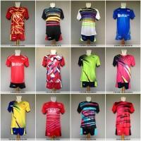 Baju Olahraga Kaos Badminton Setelan Bulutangkis Lining Victor Yonex