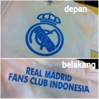 Kaos Pria Real Madrid Fans Club Indonesia Baju Distro Bola Kaos Bola