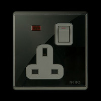 Nero Stop Kontak AC A9-B CRYSTAL A91311VD-B