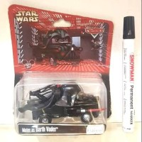 Mainan diecast figure Starwars series Cars series Mater as darth vader