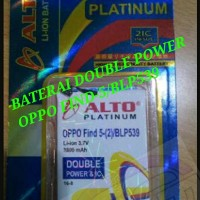 Baterai/Batre Hp Oppo Find-5/BLP539 Daya 3500 mAh Double Power Ori Alt