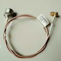 Pigtail cable Jumper kabel 1 meter N male to SMA male right angle